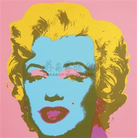 玛丽莲梦露(粉色) monroe pink by andy warhol