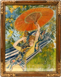 lady with parasol by frank snapp