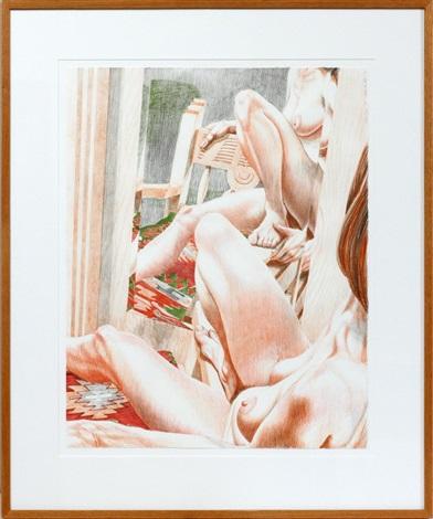 fiesta nude by philip pearlstein