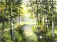 vårlandskap från drottningholm by anna billing