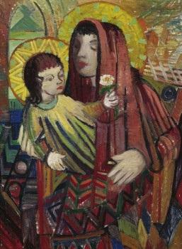 maria mit dem christusknaben by karl stachelscheid