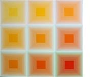 spectral nine (set of 9) by richard anuszkiewicz