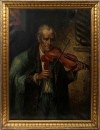 gentleman playing a violin by f. avilo