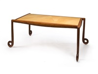 four legged desk and two chairs (set of 3) by wendell castle