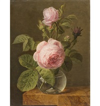 stillleben mit rosen by jan frans van dael