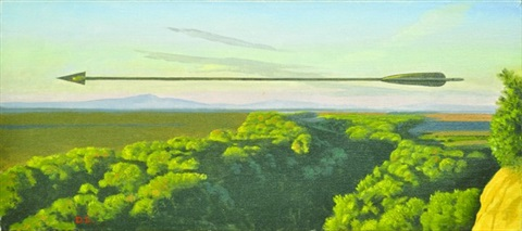 landscape with arrow by david ligare