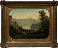 landscape with river by hudson river school