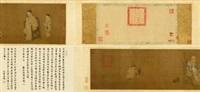欧阳询求兰亭图 (story of ouyang xun) by emperor huizong