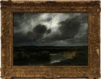 storm scene by adolf (johann) staebli