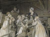sjungande barn i vagnsstallet by august malmström
