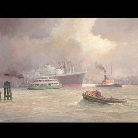 escorting the cruise ship by ferdinand kaufmann
