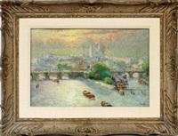 paris cityscape by biron roger