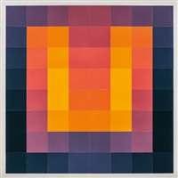 carro 64 - orange/violett/blau by karl gerstner