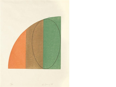 curved plane; one column; two columns (set of 3) by robert mangold