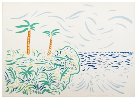 bora bora by david hockney