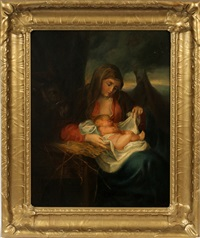 madonna and child after van dyke by eugenia pignet
