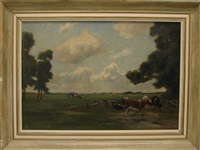 pastoral landscape by frans smissaert