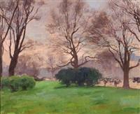 les pelouse de l'avenue du bois by jules ernest renoux