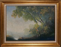 figures in ethereal landscape by william c. emerson