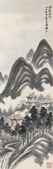 雨后云山 by qi baishi
