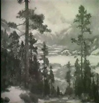 early winter in the sierras by frederick almond zimmerman