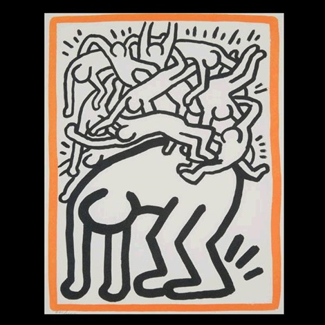 fight aids by keith haring
