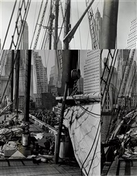 theoline, pier 11, east river, ny by berenice abbott