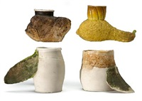 cup - gourd (+ 3 others; various sizes; set of 4) by richard shaw