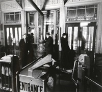 el station interior, 6th and 9th avenue lines, downtown side, columbus avenue and 72nd street, manhattan february 6 by berenice abbott
