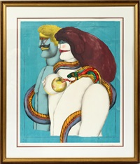 adam and eve by richard lindner