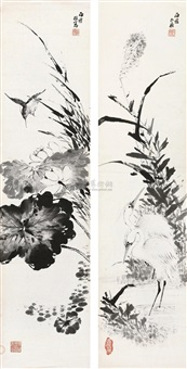 untitled (2 works) by li shijun