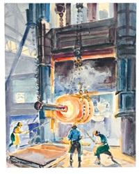 stahlblock unterm hammer by paul lehmann-brauns