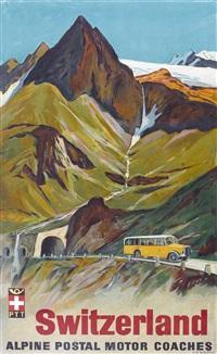 switzerland alpine postal motor coaches by hans beat wieland