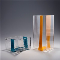 zwei vasen (2 works) by pierre cardin and ludovico diaz de santillana