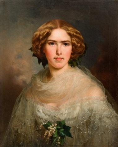 porträt einer dame by franz xaver winterhalter