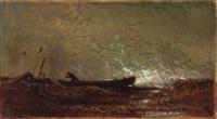 aufkommendes wetter am ammersee (sturmflut) by carl spitzweg