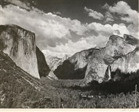valley view, yosemite national park by ansel adams