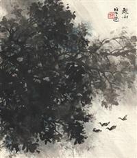 骤雨小景图 (sudden rain) by li xiongcai