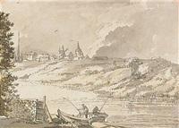 utsikt från söder mot stockholm med riddarholms och katarina kyrka i fonden by jean-eric rehn