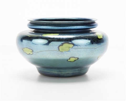 An Lc Tiffany Blue Favrile Glass Vase By Louis Comfort Tiffany On