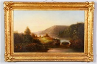 rural landscapse by hudson river school