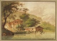 gegend am vierwaldstattersee samt dem pilatus berg by johann heinrich bleuler the elder