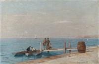 animation sur le ponton de dorigny by francois-louis-david bocion
