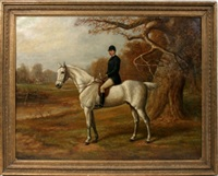 equestrian hunter by edward benjamin herberte
