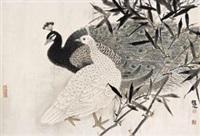 翠屏 (peacock) by xu xiaobin