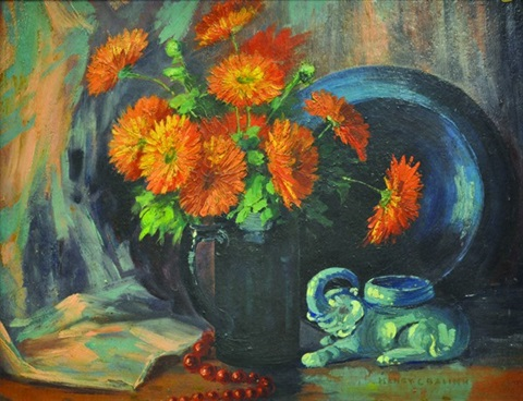 still life with mums by henry balink