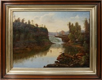 possible lower fall of the genesee river, ny by hudson river school