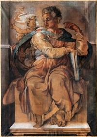 prophet & sibyl by michelangelo