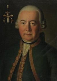 portrait der maria antonia von barth (+ portrait ihres mannes franz carl von barth senio; 2 works) by andreas hölzl
