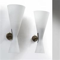 due lampade a parete 1942 by fontana arte